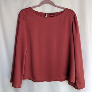 NWT Vince Camuto Long Sleeve Red Blouse Small